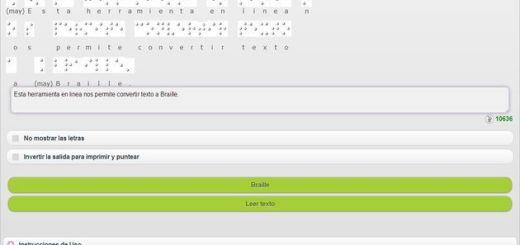 HetaH Transcriptor, una herramienta online gratuita para transcribir texto a Braille