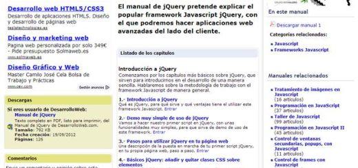 Manual de jQuery gratuito y en español