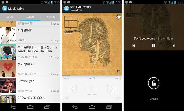 Music Drive, app para Android que nos permite escuchar las canciones que almacenamos en Google Drive