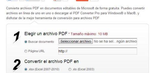 Herramienta web gratuita para convertir archivos PDF a documentos de Excel