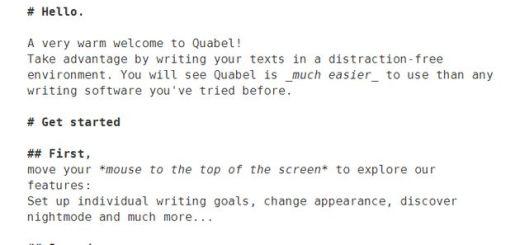 Quabel, un editor de texto online para trabajar sin distracciones