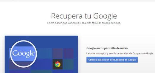Recupera tu Google, una página que nos enseña a no olvidarnos de Google en el nuevo Windows 8
