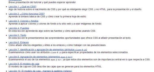 Un completo tutorial de CSS en 17 lecciones