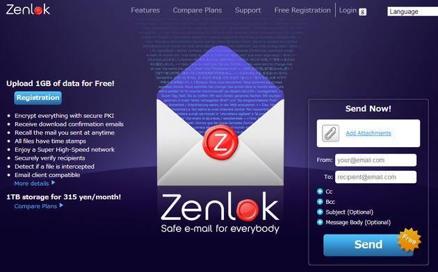 Zenlok, envía archivos de hasta 1 Gb completamente gratis