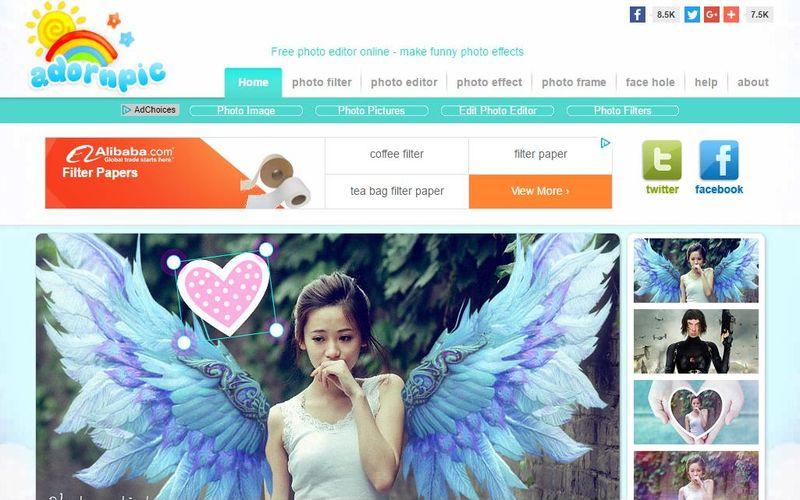AdornPic editar y decorar imagenes online AdornPic: 6 herramientas web para editar y decorar tus fotos