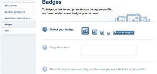Ahora también podemos usar badges para promocionar nuestro perfil web de Instagram