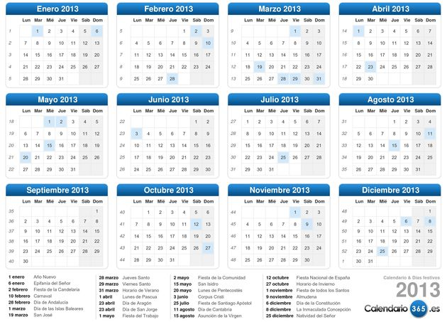 Free Printable 2013 Calendar in Word format.  Monthly and weeekly calendars available.
