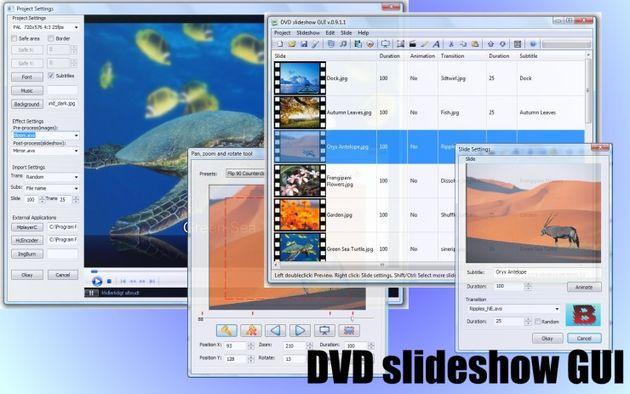 DVD slideshow GUI, crea presentaciones a partir de tus fotos, presentaciones y clips de vídeo