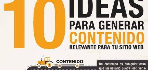 Una infografía con 10 ideas para generar contenido relevante para tu sitio