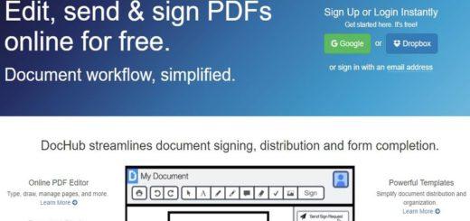 DocHub: utilidad web para editar, firmar y compartir archivos PDF