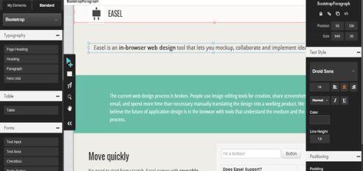 Easel, diseña páginas web desde el navegador y sin necesidad de escribir código