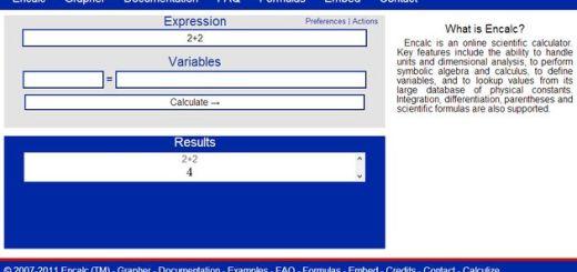 Encalc, una práctica calculadora científica en línea y gratuita