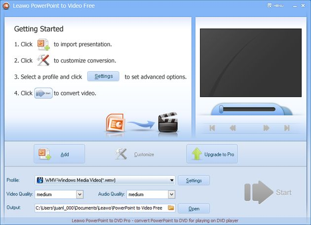 Free Leawo PowerPoint to Video Free Leawo PowerPoint to Video, software gratuito para convertir presentaciones PowerPoint a vídeo