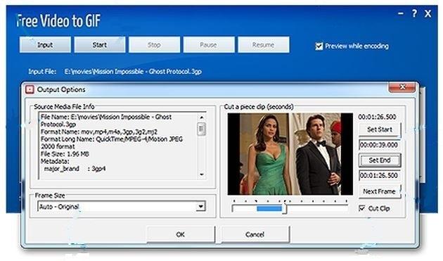 Free Video to GIF: software para convertir vídeos, o una fracción de ellos, a gif animados