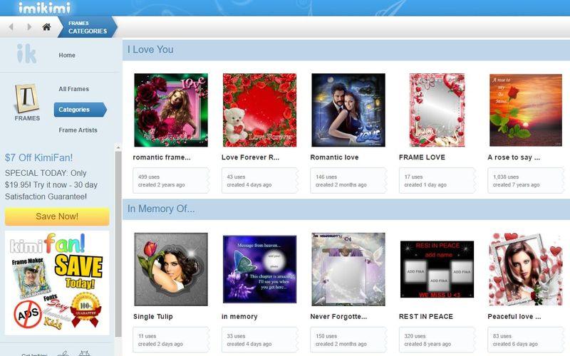 Imikimi: web con cientos de marcos y bordes para decorar tus Fotos