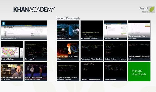 Khan Academy, el gran directorio de vídeos educativos ya puede instalarse como una aplicación de Windows 8
