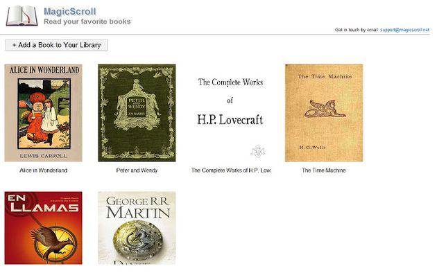 MagicScroll eBook Reader, lee libros electrónicos en formato ePub en el navegador Chrome
