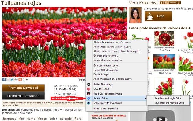 Save to Drive: extensión Chrome para enviar enlaces, imágenes, audios HTML5 y vídeos HTML5 a Google Drive