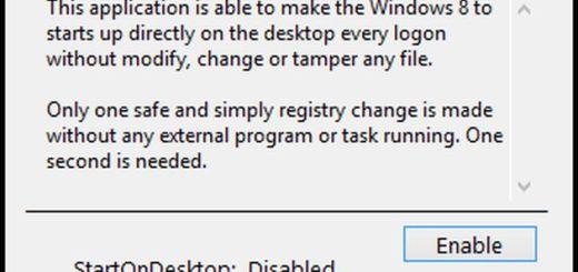 StartOnDesktop, inicia Windows 8 directamente desde el Escritorio