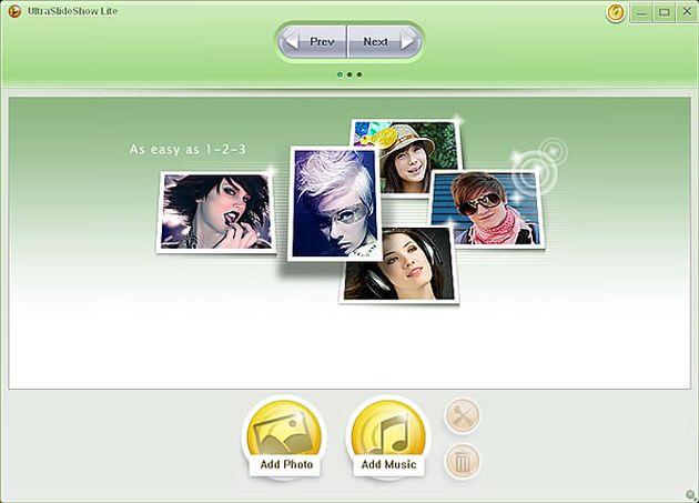 UltraSlideshow Lite1 UltraSlideshow Lite, software gratuito para crear presentaciones flash con tus fotos y audios