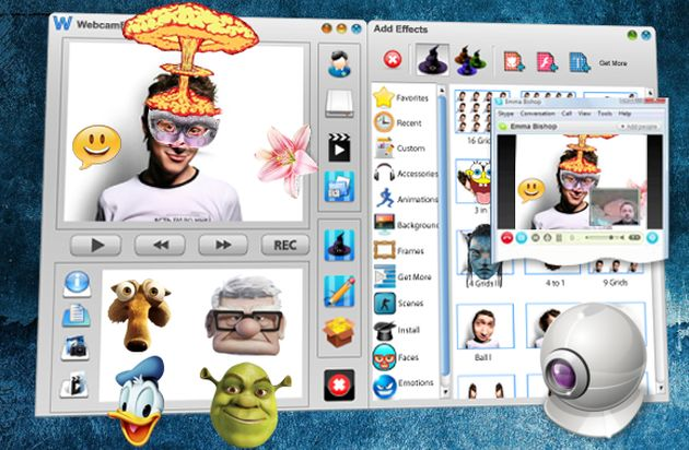 Webcam Effects Webcam Effects, decora tu rostro y aplica efectos a tus vídeos para grabar o videoconferencia