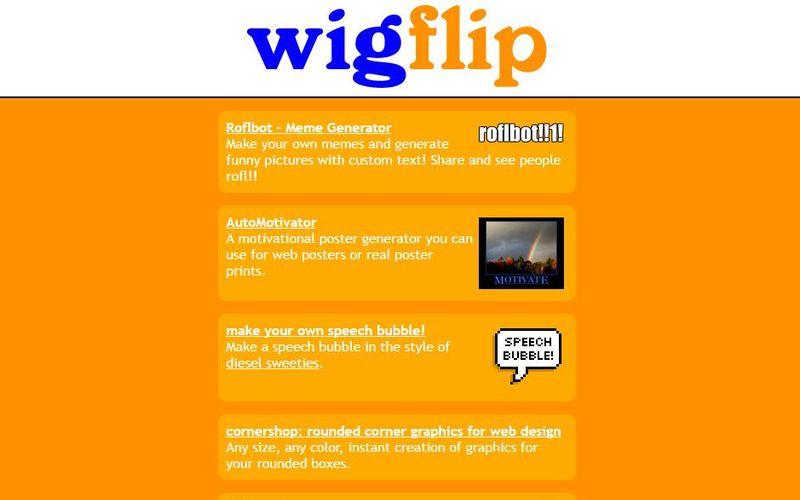 12 aplicaciones web para crear imágenes divertidas con Wigflip