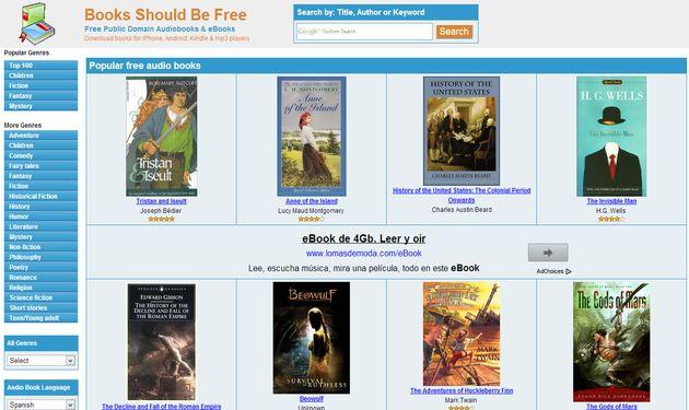 Books Should Be Free, miles de audiolibros gratuitos para descargar o escuchar online