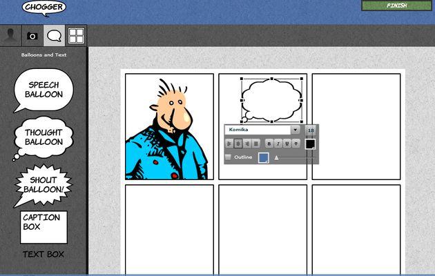 Chogger, crea cómics y tiras cómicas fácilmente