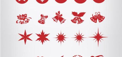 Christmas Silhouettes Mega Pack, más de 100 iconos navideños gratuitos en formato PSD