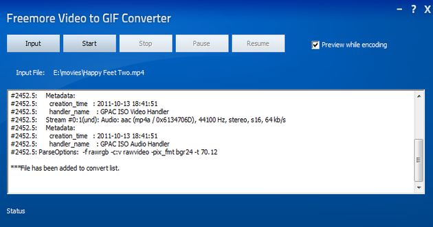 Freemore Video to GIF Converter Freemore Video to GIF Converter, software gratuito para convertir vídeos en gif animados