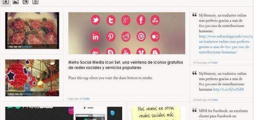 Glossi: una elegante forma de agrupar, leer y compartir tus publicaciones sociales