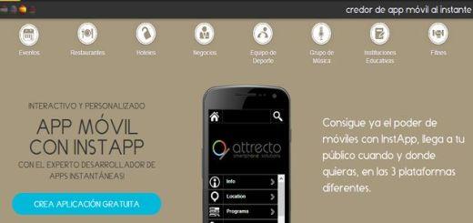 InstApp: crea apps para Android, iOS y Windows 8 sin necesidad de programar