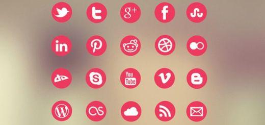 Metro Social Media Icon Set, una veintena de iconos gratuitos de redes sociales y servicios populares
