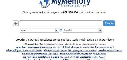 MyMemory, un traductor online más perfecto gracias a más de 622.500.000 contribuciones humanas