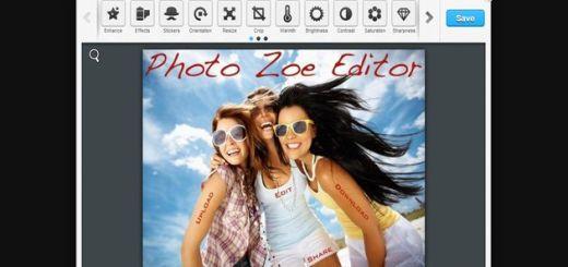 Photo Zoe Editor, un potente editor de imágenes gratuito y online