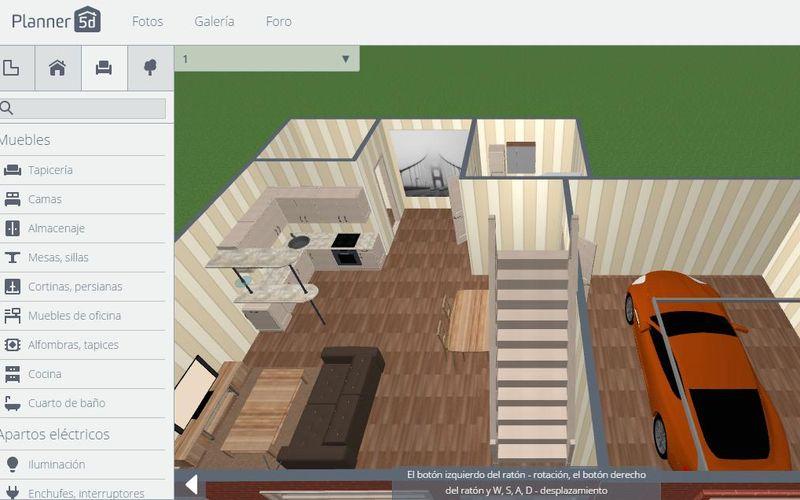 Planner 5d crea planos para dise o de interiores en 2d y 3d for Programa diseno interiores 3d