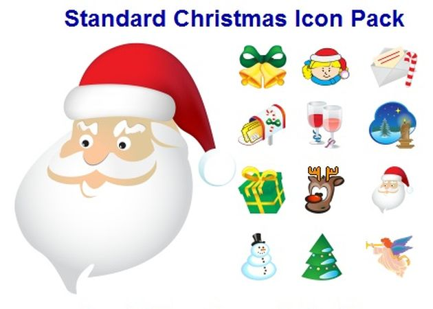 Standard Christmas Icon Pack 2012, un pack con iconos variados de motivos navideños