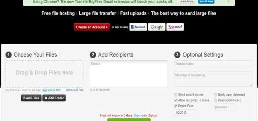 Transfer Big Files, una solución rápida para enviar archivos a contactos y amigos