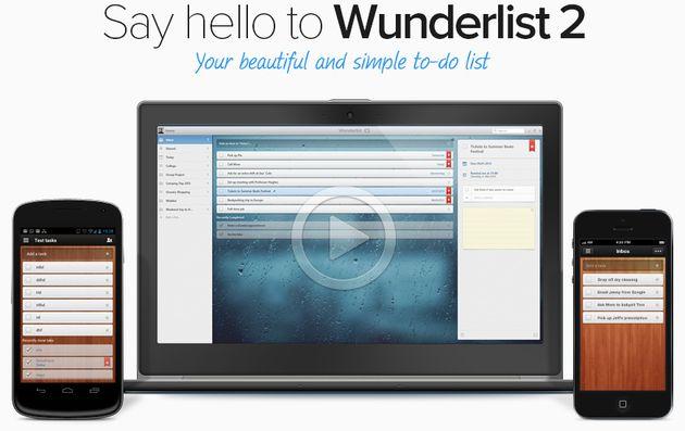 Wunderlist 2, un popular gestor de tareas gratuito y disponible para distintos dispositivos