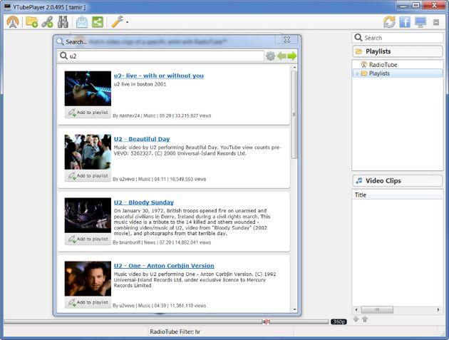 YTubePlayer, excelente cliente de Escritorio para ver los vídeos de