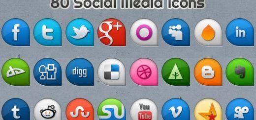 Pack gratuito con 80 iconos sociales en dos estilos diferentes