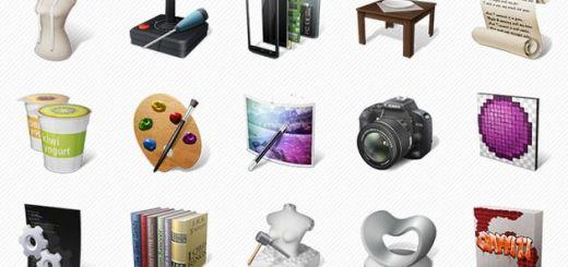 Art Professions Icons, un pack gratuito de bellos iconos de arte