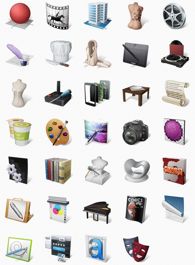 Art Professions Icons Art Professions Icons, un pack gratuito de bellos iconos de arte