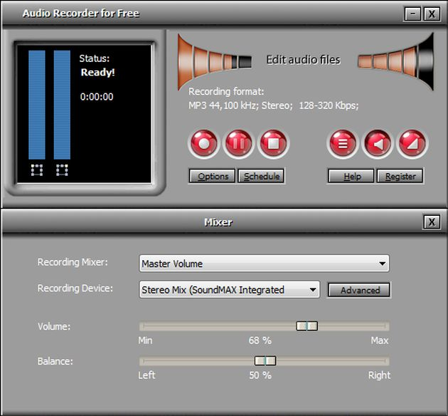 Audio Recorder for Free Audio Recorder for Free: grabador, reproductor y editor de audio gratuito para Windows
