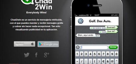 Chad2Win, una alternativa a Whatsapp o LINE que te paga por su uso