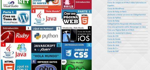 CodigoFacilito, aprende distintos lenguajes de programación con vídeo cursos gratuitos en español