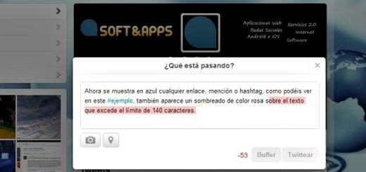 Twitter implementa colores para advertirnos cuando insertamos un enlace o superamos los 140 caracteres