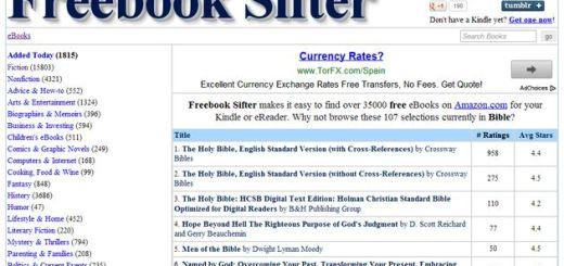 Freebook Sifter, un directorio con alrededor de 35000 libros gratuitos para tu Kindle o eReader