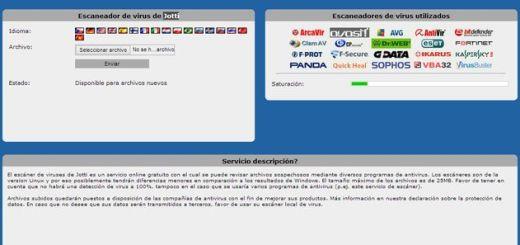 Jotti, analiza online archivos sospechosos en busca de virus e infecciones