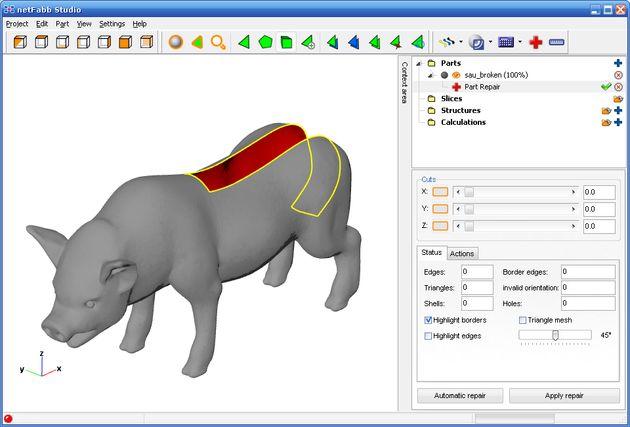 Netfabb Studio Basic Netfabb Studio Basic, aplicación gratuita y multiplataforma para modelado de objetos 3D